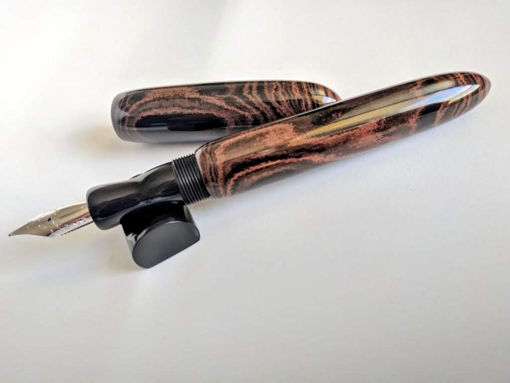 Bonita Marbled Cumberland Fountain Pen Penteopens Handmade3