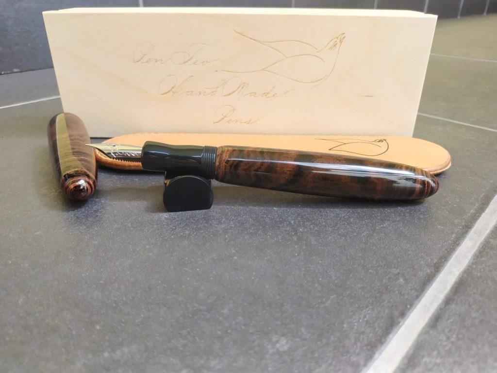 Bonita Marbled Cumberland Fountain Pen Penteopens Handmade4