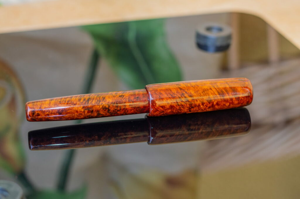 penteo samurai flat top amboyna wood2