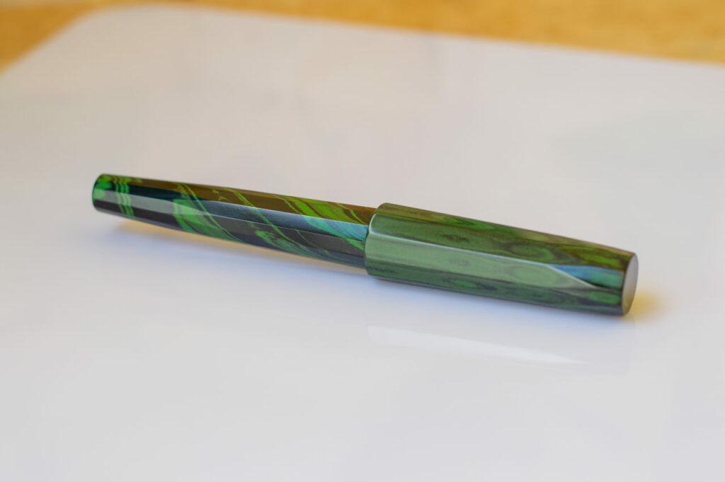 penteo samurai faceted mottled green2